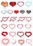 HEART SET Royalty Free Stock Photos