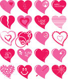 Heart set Royalty Free Stock Photography