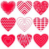 heart set valentine Royaltyfria Bilder