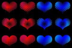 Heart set , Valentine heart, Stock Photography
