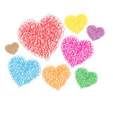 Heart set for Valentine`s. EPS10 available for buyer who want to change color  or resize Stock Images