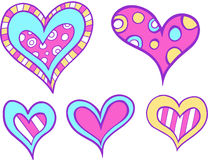 Heart Set Vector. Heart Love Set Vector Illustration Stock Photos