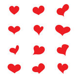 Heart set vector Stock Image