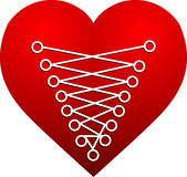 Heart sewing Royalty Free Stock Photos
