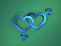 Heart sex symbols. Background with the symbols of sex and love Royalty Free Stock Photos