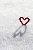 A heart with shade. The ice-cold heart Stock Photography