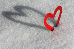 A heart with shade. The ice-cold heart Stock Image