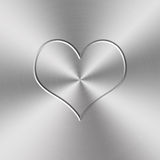 Heart shap aluminum background Stock Image