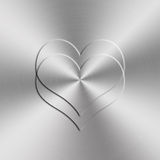 Heart shap aluminum background Royalty Free Stock Images