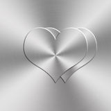 Heart shap aluminum background Stock Photography