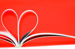 Heart shape. Pages of a book curved into a heart shape Stock Photography