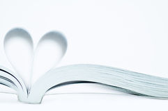 Heart shape. Pages of a book curved into a heart shape Stock Images