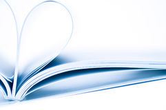 Heart shape. Pages of magazine curved into a heart shape Stock Photo