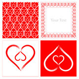 Heart shape pattern Stock Photo