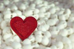 Heart shape. Felt heart shape for Valentine\'s day Royalty Free Stock Photos