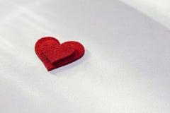 Heart shape. Felt heart shape for Valentine\'s day Stock Image