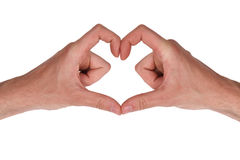 Heart shape. Heart sign , studio shot, isolated on white Royalty Free Stock Images