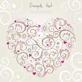 Heart shape. Illustration of the heart in openwork patterns Stock Images