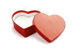 Heart shape. Valentine gift box on white background Royalty Free Stock Photography