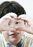 Heart shape. Hands in a heart shape stock image