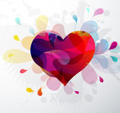 Heart shape abstract illustration for Valentine`s Day. Stock Image