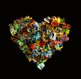 Heart shape from alphabet symbol Stock Photography