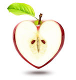 Heart shape apple Stock Photos