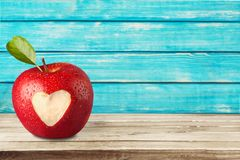 Heart Shape. Apple Love Animal Heart Human Heart Healthy Eating Healthy Lifestyle Royalty Free Stock Image