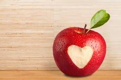 Heart Shape on Apple Stock Photo