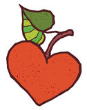 Heart shape apple vector icon Stock Photos
