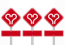 Heart shape with arrow road sign Royalty Free Stock Photography