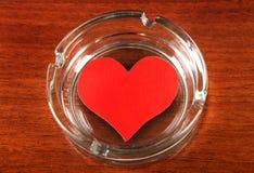 Heart Shape in Ashtray Royalty Free Stock Photos