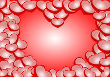 Heart shape background Stock Photos