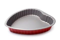 Heart shape baking dish Royalty Free Stock Photo