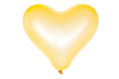 Heart shape balloon isolated on white Stock Photo