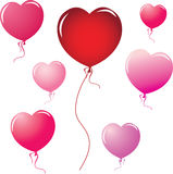 Heart shape balloons Royalty Free Stock Photos