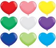 Heart Shape Balloons Royalty Free Stock Photos
