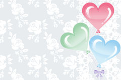 Heart Shape Balloons on lace background Stock Image