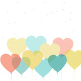 Heart shape balloons for Valentines Day celebration. Royalty Free Stock Photo