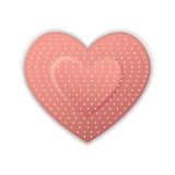Heart Shape Bandage Stock Image