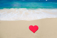 Heart shape on the beach Royalty Free Stock Images