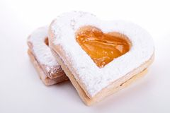 Heart shape biscuit Stock Images