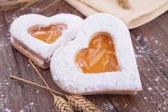 Heart shape biscuit Stock Photos