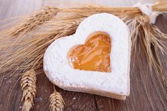 Heart shape biscuit Royalty Free Stock Image