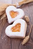 Heart shape biscuit Stock Photo