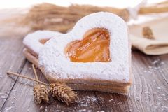 Heart shape biscuit Royalty Free Stock Photos