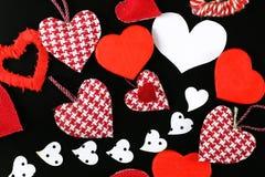 Heart shape on black background Royalty Free Stock Photos