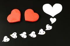 Heart shape on black background Royalty Free Stock Photo