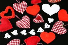 Heart shape on black background Stock Photo