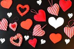 Heart shape on black background Stock Image